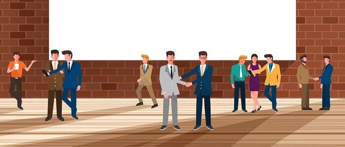 employees around the office illustration