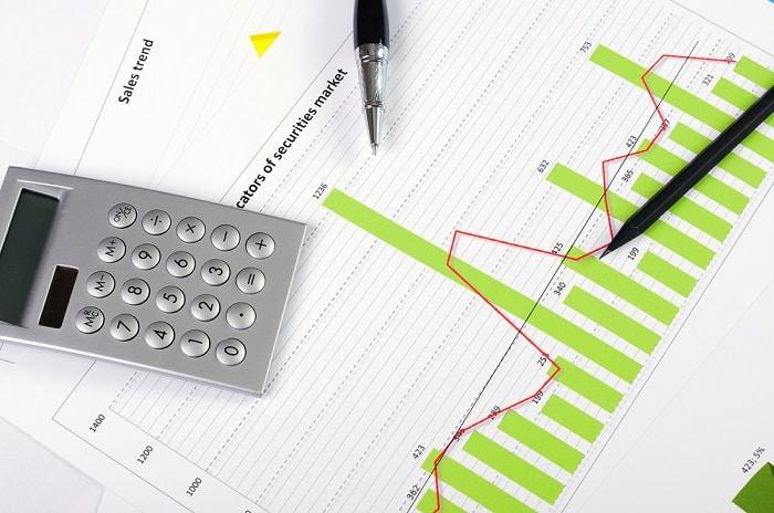 charts graphs calculator pen