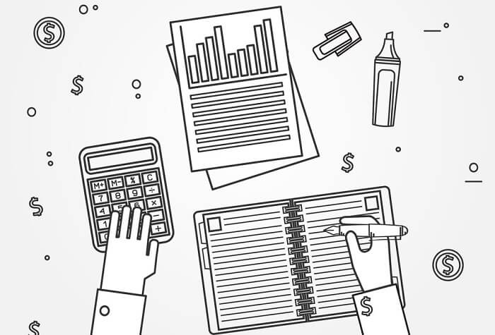 illustration of accounting concept