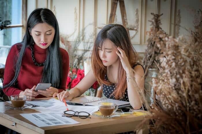 business women working on marketing strategy