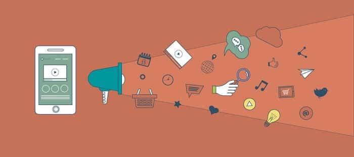 mobile marketing digital concept