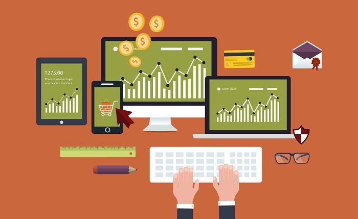 mobile online marketing illustration