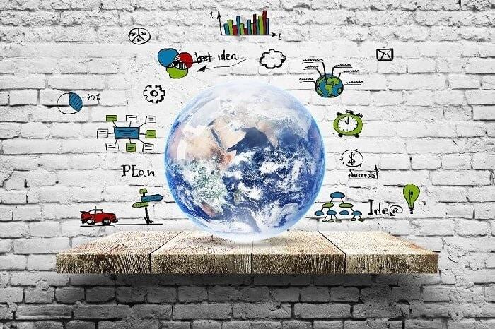 earth globe on wall