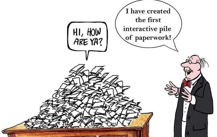 interactive paperwork funny