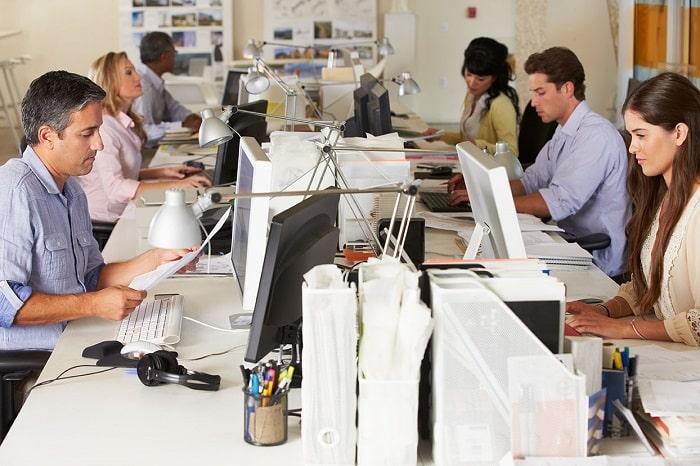 advertising team working