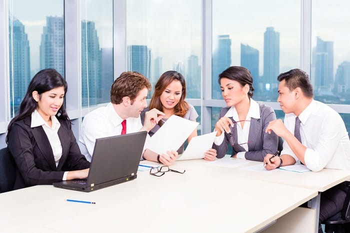 business team in meeting