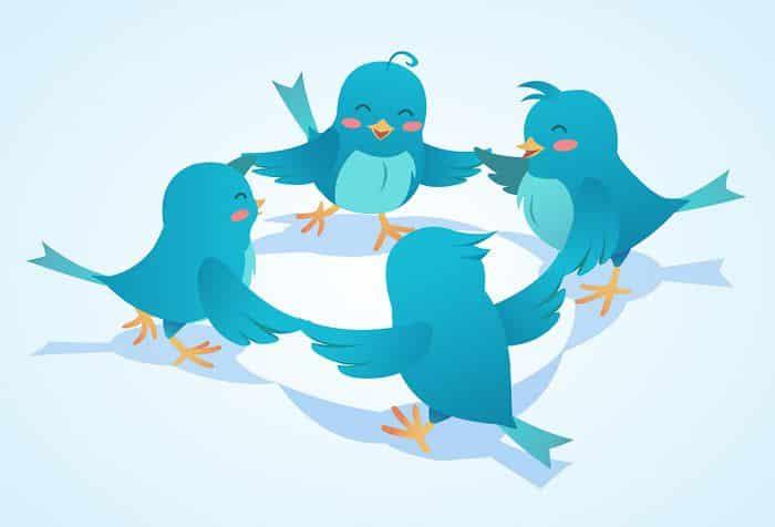 cartoon birds playing together