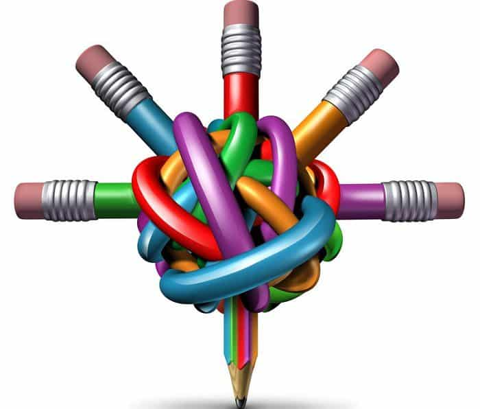 leadership business concept with pencils