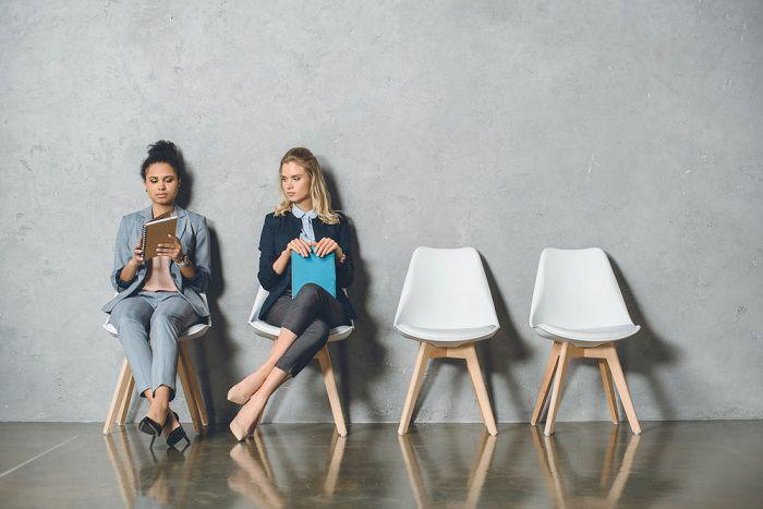 businesswomen waiting for interview
