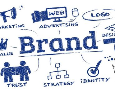 branding strategies drawing with various elements of a brand