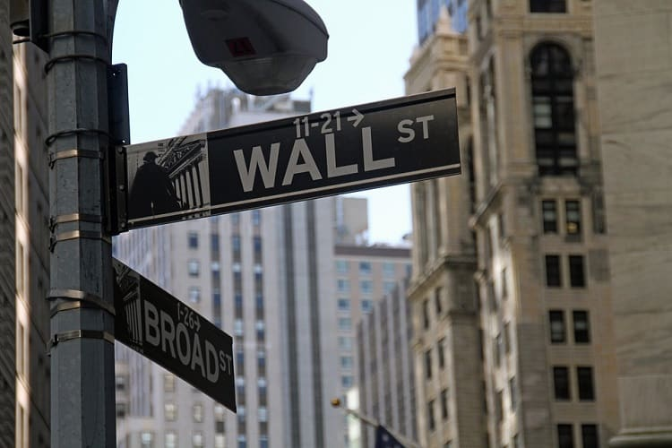 Wall Street sign on a pillar