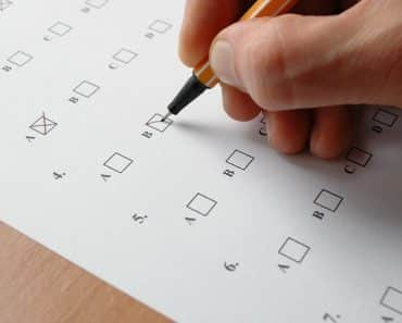 criterion referenced assessment person taking a multiple choice test