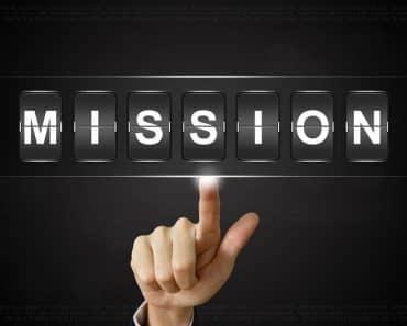 mission statement vs vision statement spelling 'mission'