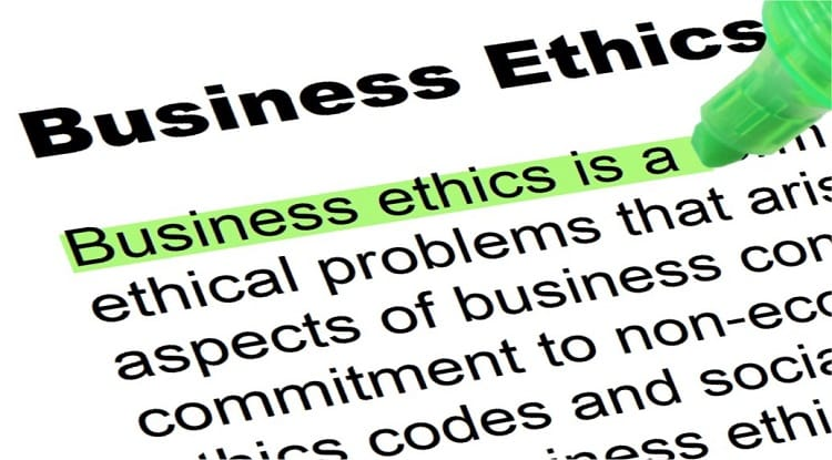 Highlighting the definition of business ethics
