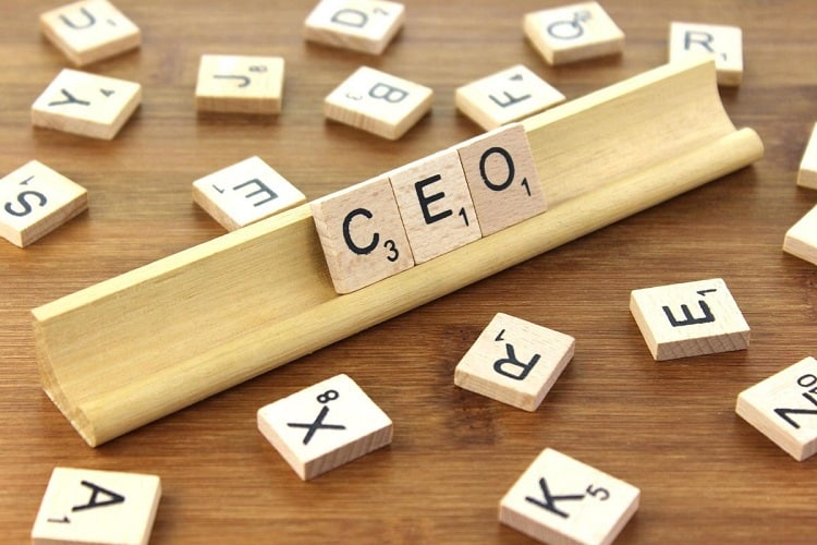 CEO written on a Scrabble board