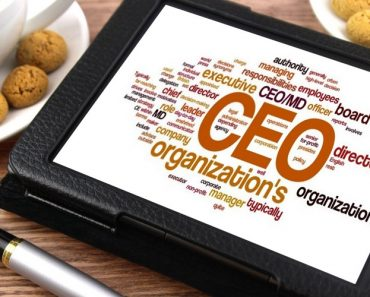 CEO and other related keywords on a tablet