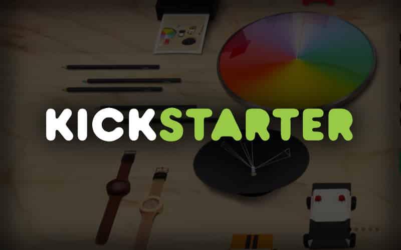 Screen shot of Kickstarter crowdfunding.