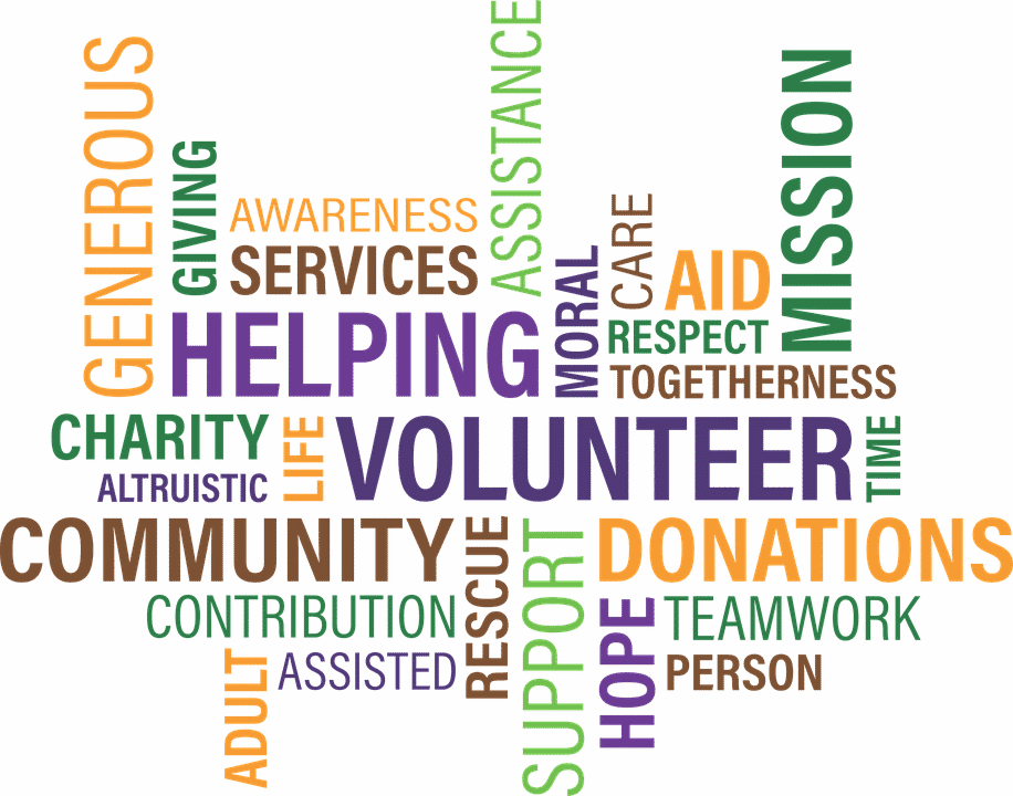 A montage of crowdfunding related words and phrases.