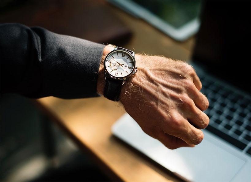 Man with wrist watch